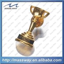 custom decorative badge 3D zinc alloy metal gold cup trophy lapel pin