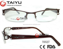 actate temple ladies metal eyeglasses frames with costomized logo