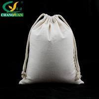 Custom printing Recycle cotton santa sack bag with drawstring