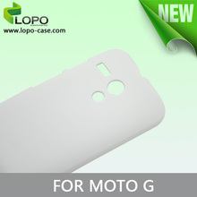 white color sublimation cover case for Motorala G from LOPO