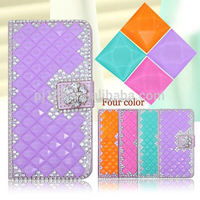 For Samsung Galaxy Note 2 N7102 Diamond Case Bling Leather Flip Case Cover For Samsung Galaxy Note 2 N7102