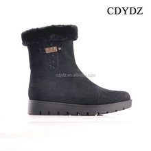 CDYDZ Y33 2015 fashion sexy Matte black flat boots side zipper short shoes Boots for women factory china