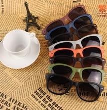 2014 fashion logo engraved wood bamboo sunglasses