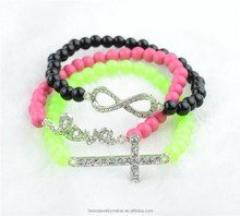 Wholesale Love,Signal,Cross 3 Pcs/Set Stretch Bracelet XBB-142