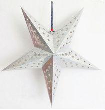 Lucky silver star paper lantern
