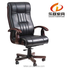 Executive CaressoftPlus Pillow Top Chair Task Chair Wooden Base for Computer Desk Chair H-806