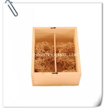Solid Pine Wooden Wine Case With Sliding Lid For 2 Bottles YIXING3318