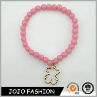 Cheapest fashion jewelry promotional bracelet 2015 plastic beads bracelet for kids