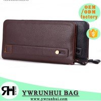 Latest Fashion Personalized High Quality Genuine PU Leather Men's Wallet Men Handbag