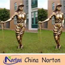 garden imitation copper resin golf woman statue NTRS029S