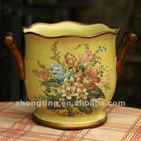 Chinese Porcelain Art Decorative Ceramic Pottery China Porcelain Vase Round Glass Flower Vase Ceramic Vase Art Modern OM008-A(1)