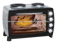 45 l hogar económico hornos con dos placa caliente