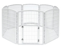 Portable dog playpen folding rabbit cat pet fence plastic play pen enclosure house