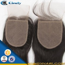New arrival cheap price 6-36inch virgin remy human hair invisible free part silk top malaysian lace closure glue