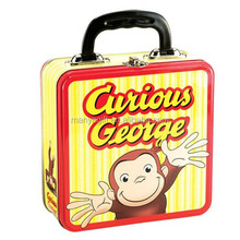 Square Metal Tin Lunch Box NEW Toys Carrier Tote Kids TV Show