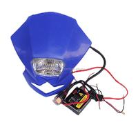 Blue Dirt Bike Motorcycle pitbike Headlamp head light led