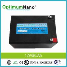 Light Weight 12V 15Ah Deep Cycle LiFePO4 Battery
