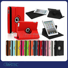 China factory high quality 360 degree rotatable PU leather case for iPad 234 air air2