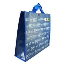 Glossy laminated pp woven bag for shopping