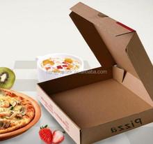 eco-friendly paper quadrangle pizza box