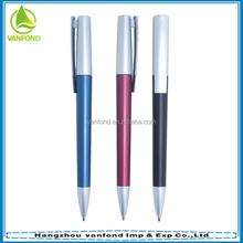 2015 promotional color customized fine point plastic pens