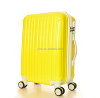 royal ABS luggage bag and PC trolley luggage with 360 degree universal swivel wheels