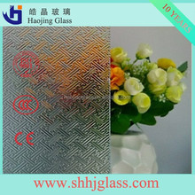 Haojing 3-6mm Durable artistic building glass, clear tempered textured glass