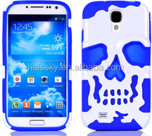 FACTORY OFFER PC and TPU case with human skeleton pattern for samsung galaxy s4
