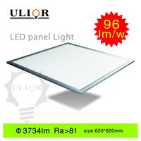 New hot 38W 96 lm/w ultra thin led drop ceiling light panels recessed by ceiling retainer edge led panel light
