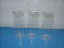 2015 hot sell PET/PVC/PP transparent clear plastic tubes packaging boxes