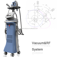 Vacuum Liposuction+Laser+Bipolar RF+Roller Massage Vacuum Fat Cellulite Machine with CE approved