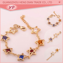 Alibaba China new style fancy 22K 24K ladies new gold bracelet models