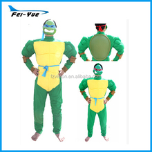 Deluxe Adult Men Ninja Turtle Costume Green Suits With Turtle Shell