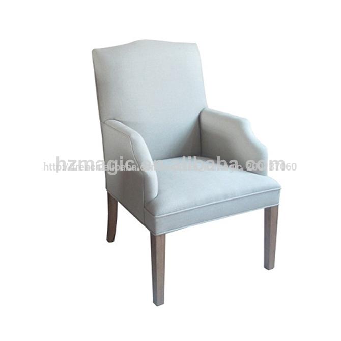 Nouveau design tissu couverture souple accoudoir de chaise for Chaise tissu salle a manger