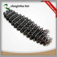 Remy Virgin Vietnam deep wave Human Hair weft single drawn hair extension