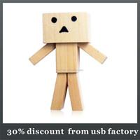 low price 8GB wood robot usb 3.0 flash drive
