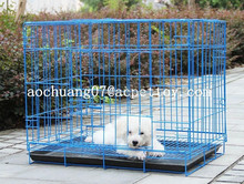 Folding metal wire dog cage