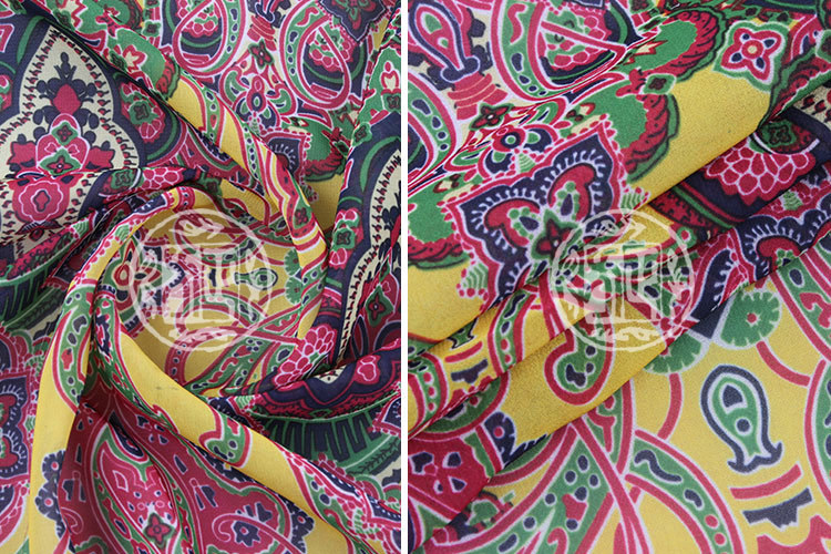 Fashion floral style digital printed 75D indian chiffon silk fabrics