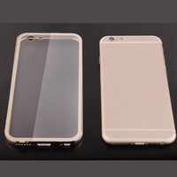 Transparent Crystal Hard TPU Acrylic Back Cover Case For Apple iPhone 6/ 6s plus 5.5 inch
