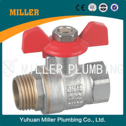 MILLER CE Approved 11/2 inch Forged Brass Ball Valve For Water And Gas With Steel Handle two Way brass ball valve ML-2003