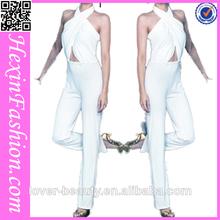 venta al por mayor de ganchillo llave de cuello blanco sexy trajes de moda de alta calidad