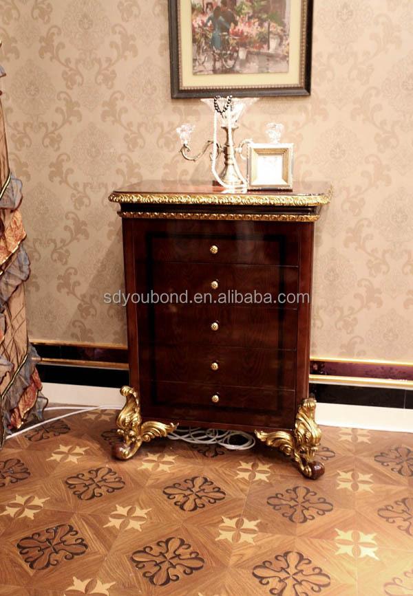 0063 High End Luxury Wooden Carved Bedroom Furniture Sets