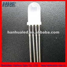 high bright 4 pins 5mm RGB color changing led common anode