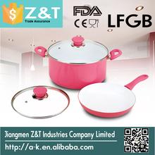 Trade Assurance Colorful aluminum ceramic pots cooking