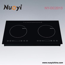 Home Appliance copper coil black glass crystal low price induction stove