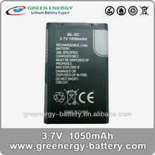 recycle mobile phones li-ion battery bl-5c 3.7v 1050mAh