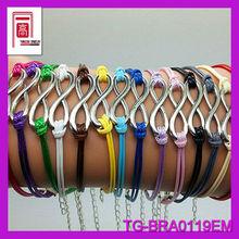 Wholesale various of original desgin girl custom leather woven bracelets