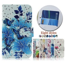 Flower Butterfly Pattern Flip Leather Cell Phone Case Cover for BLU DASH 4.0C D370U