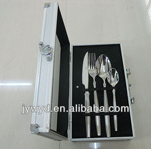 24pcs stainless steel cutlery set with aluminum case