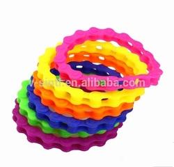biker chain silicone bracelet/